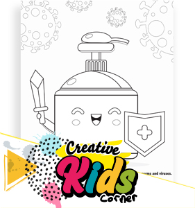 Soap Protector Coloring Page