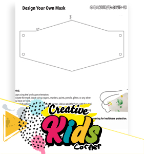 Design Your Own Mask, Print and Color page