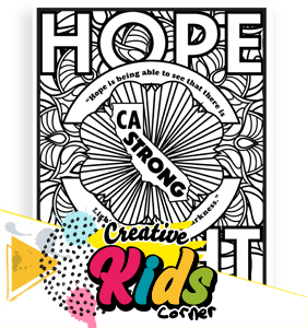 Hope and Light Coloring Page
