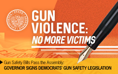 Governor Signs Democrats' Gun Safety Legislation